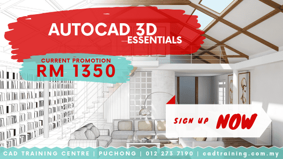 AutoCAD 3D Essentials 2-day short course with CIDB points . CADTRAINING.COM.MY