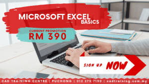 Microsoft Excel Basics | MS Excel | 1-day short course with CIDB points . CADTRAINING.COM.MY