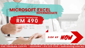 Microsoft Excel Intermediate | MS Excel | 1-day short course with CIDB points . CADTRAINING.COM.MY
