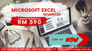Microsoft Excel Advanced | MS Excel | 1-day short course with CIDB points . CADTRAINING.COM.MY