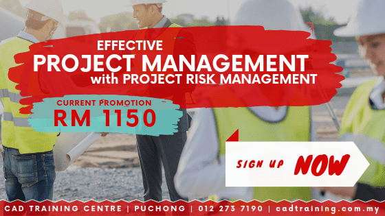 Project Management with Risk Management 2-day short course with CIDB points . CADTRAINING.COM.MY